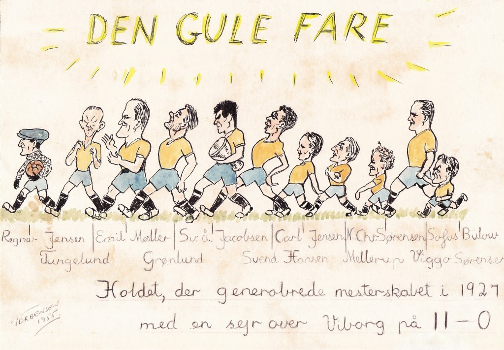 DEN GULE FARE 1927 - Johs. B. Torbensens tegning fra 1955