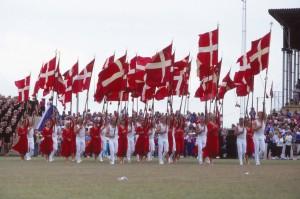 Landsstævnet 1990 i Horsens - indmarchen (1)