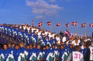 Landsstævnet 1990 i Horsens - indmarchen (2)