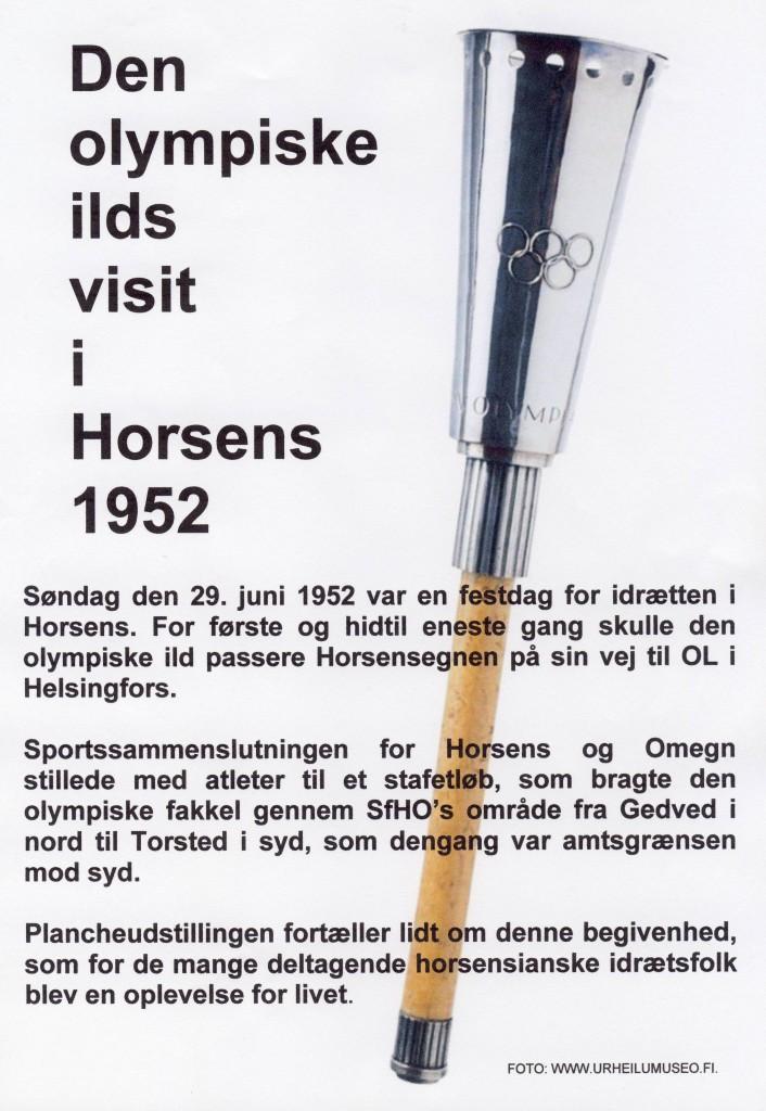 Plancheudstilling - Den olympiske ild i Horsens 1952