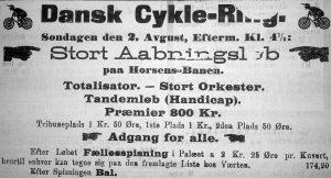 Annonce i Horsens Folkeblad lørdag den 1. august 1896